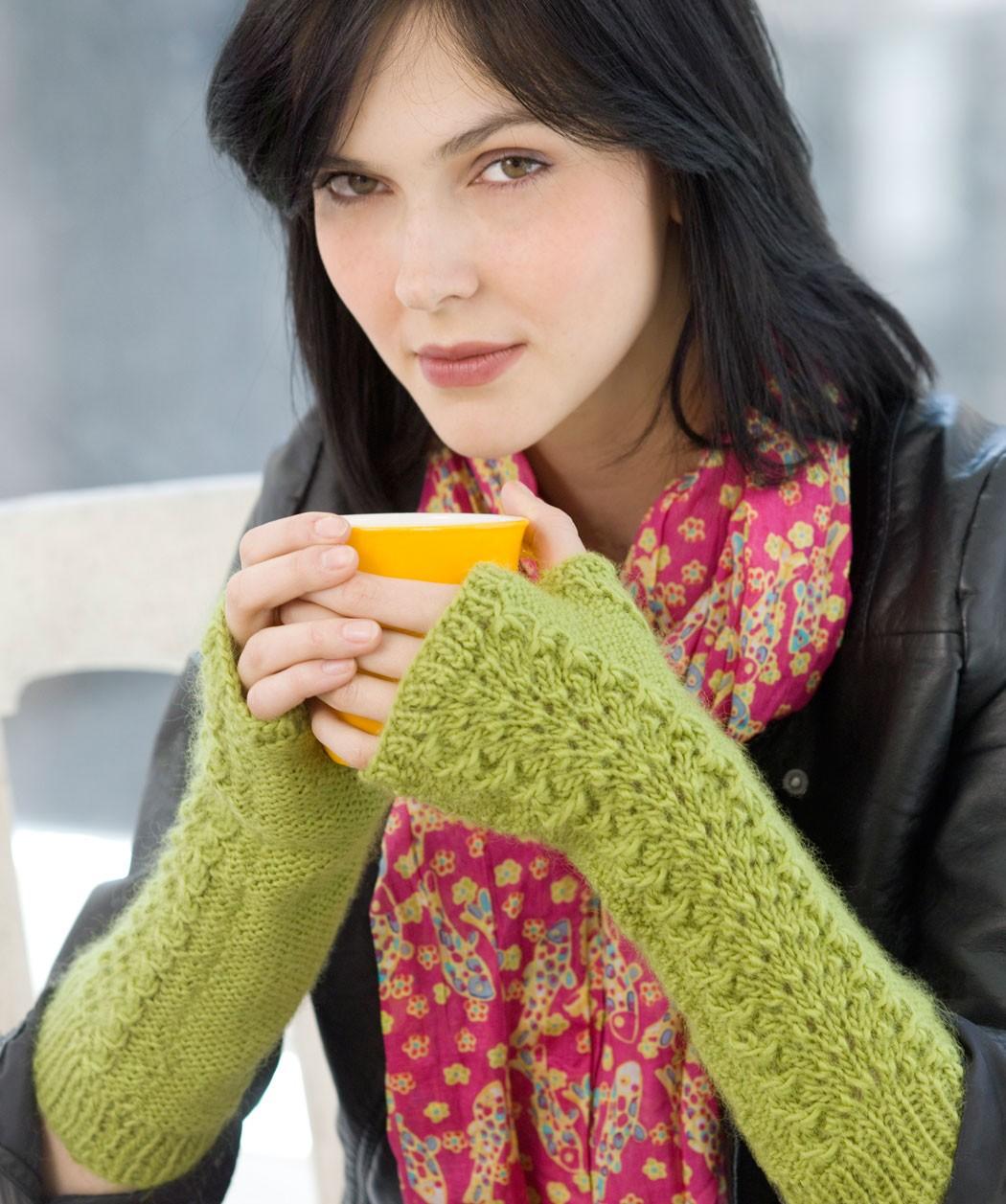 Lettuce Knit Arm Warmer Pattern