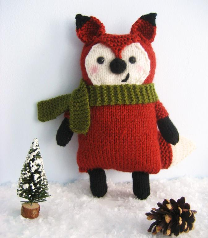 Little Fox Amigurumi Knittting Pattern