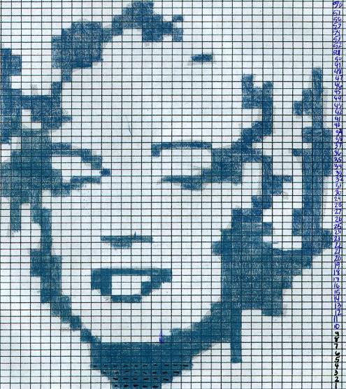 Marilyn Monroe Intarsia Knitting Patterns