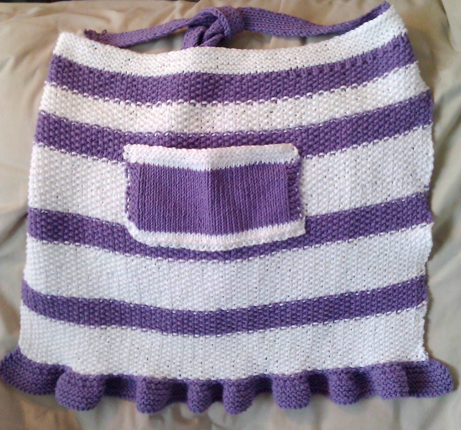 Mix Stitch Apron Knitting Pattern