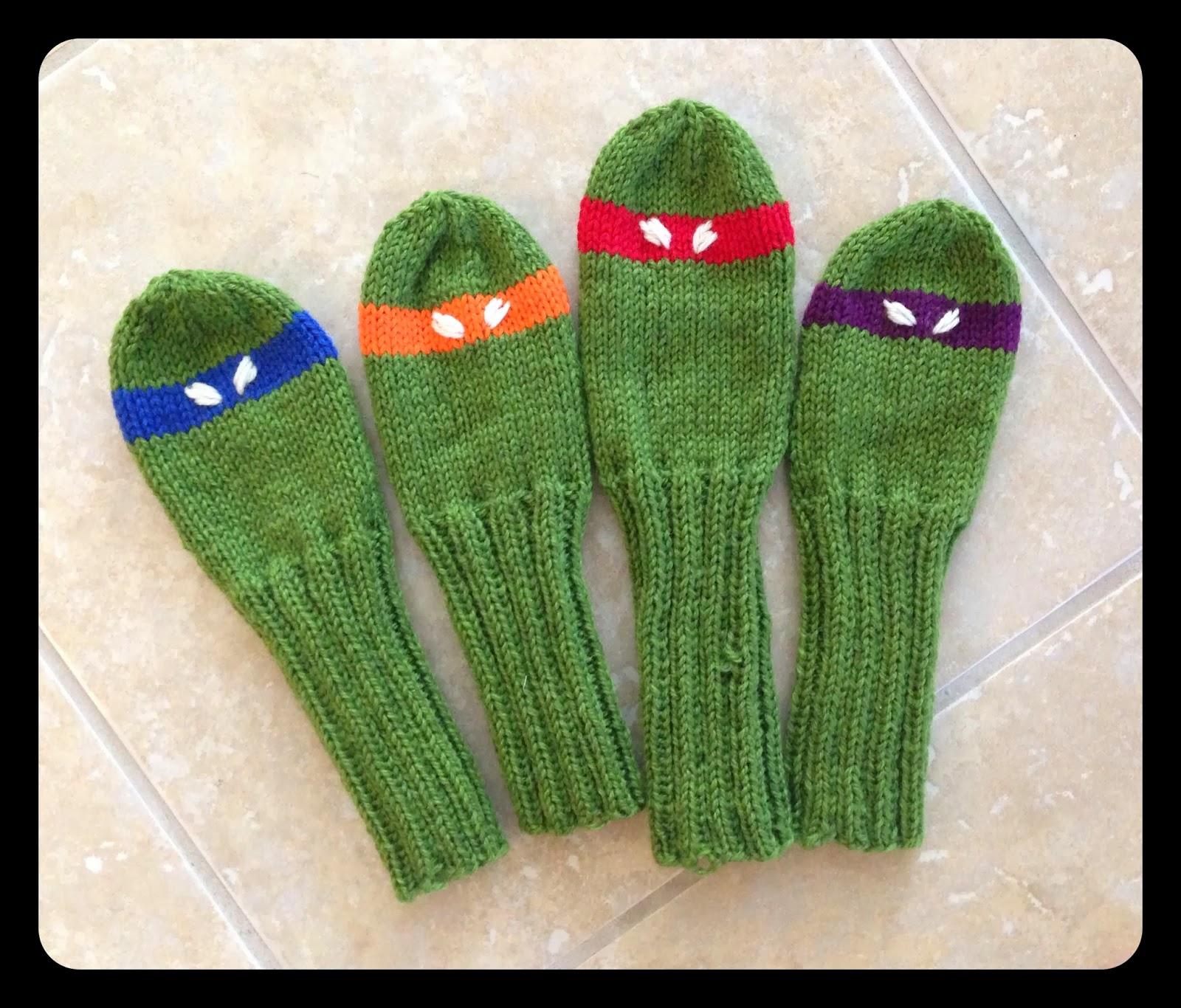Ninja Turtle Golf Head Covers Knitting Pattern