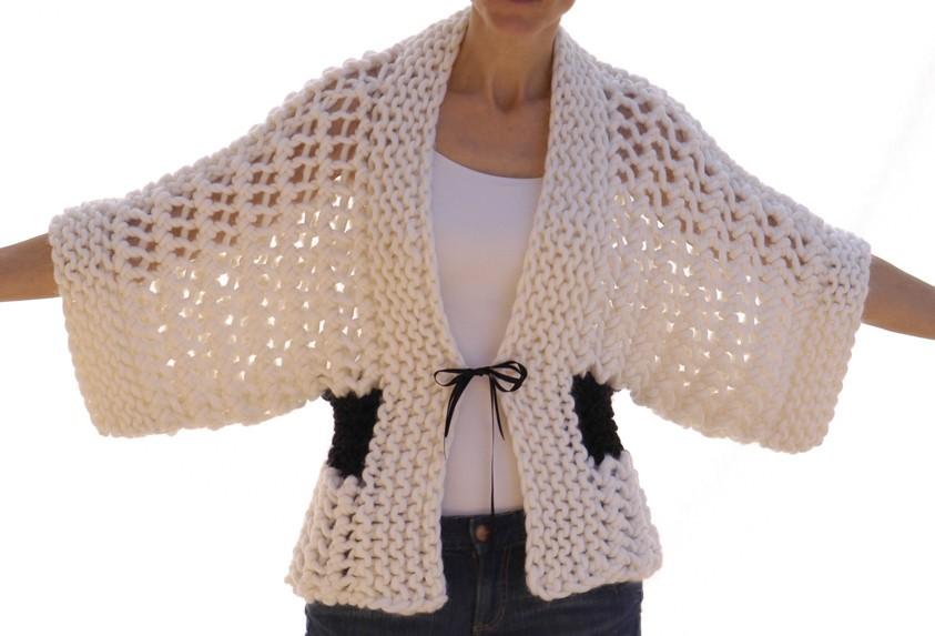 Open Knit Kimono Pattern