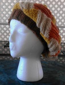 Ribbed Entrelac Beret Knit Pattern