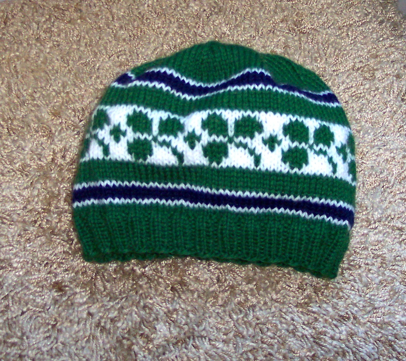 Rugby Shamrock Hat Knitting Pattern