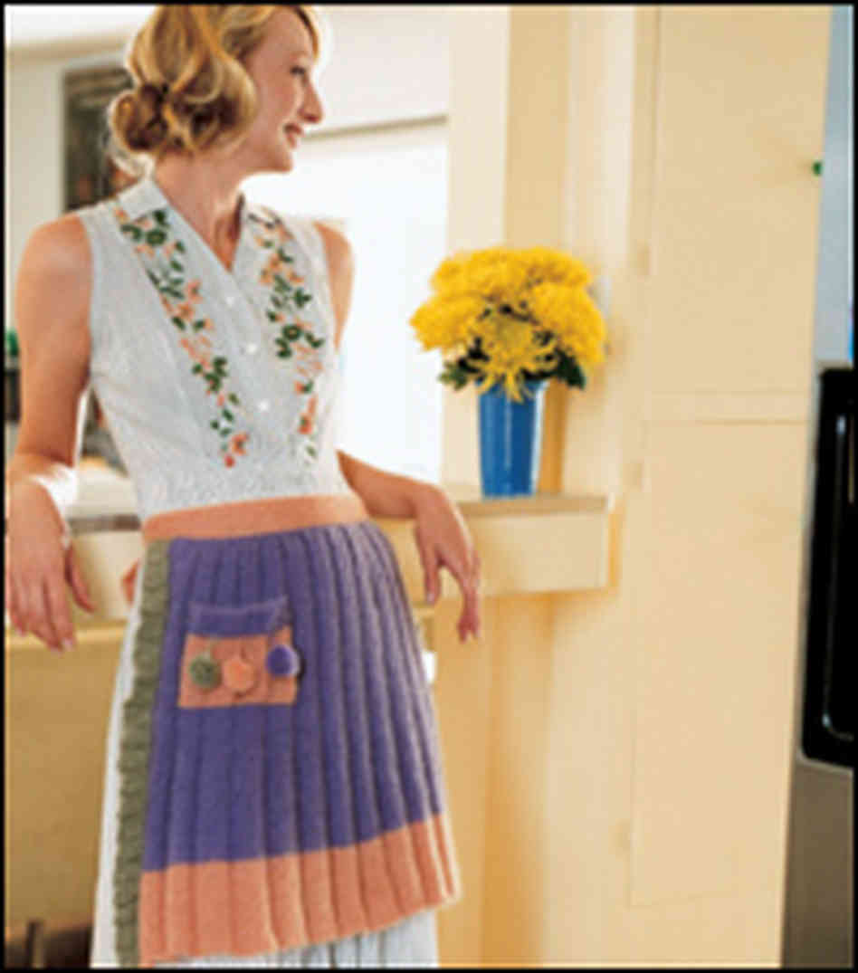 Saucy Apron Knitting Pattern