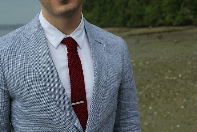 Seed Stitch Knitted Tie Pattern