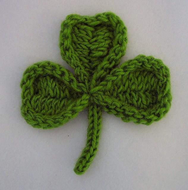 Shamrock Clover Knit Pattern