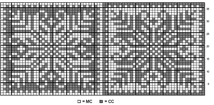 Snowflake Chart Knitting Pattern