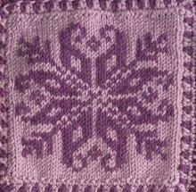 Snowflake Square Knitting Pattern