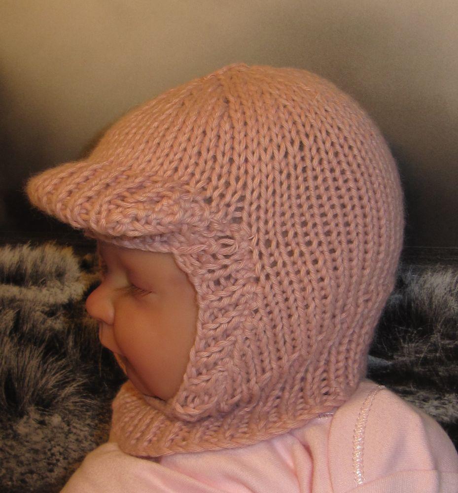 Soft Peak Balaclava Hat Knit Pattern