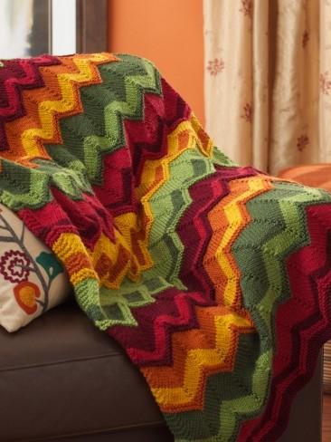 Spicy Blanket Chevron Quilt Pattern