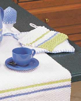 Stripe Pot Holder Knitting Pattern