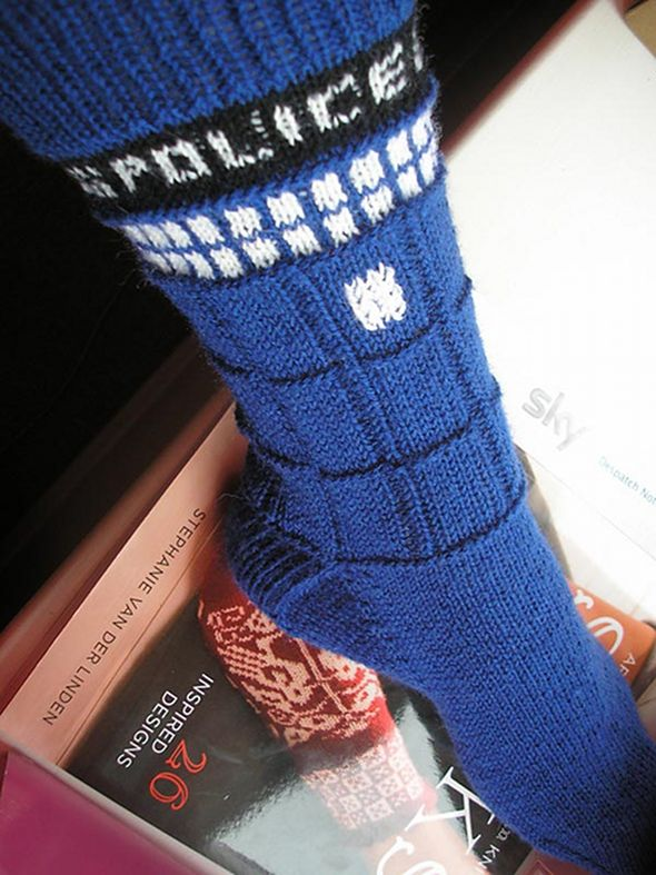 Tardis Socks Knitting Pattern