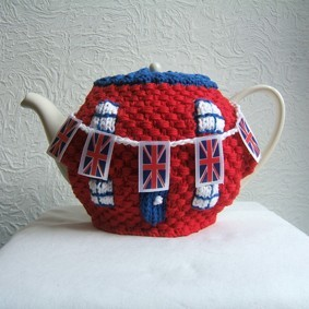 Tea Cosy Union Jack Knitting Pattern