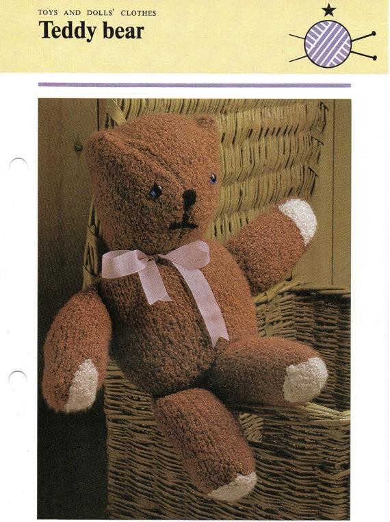 Teddy Bear Knitted Pattern