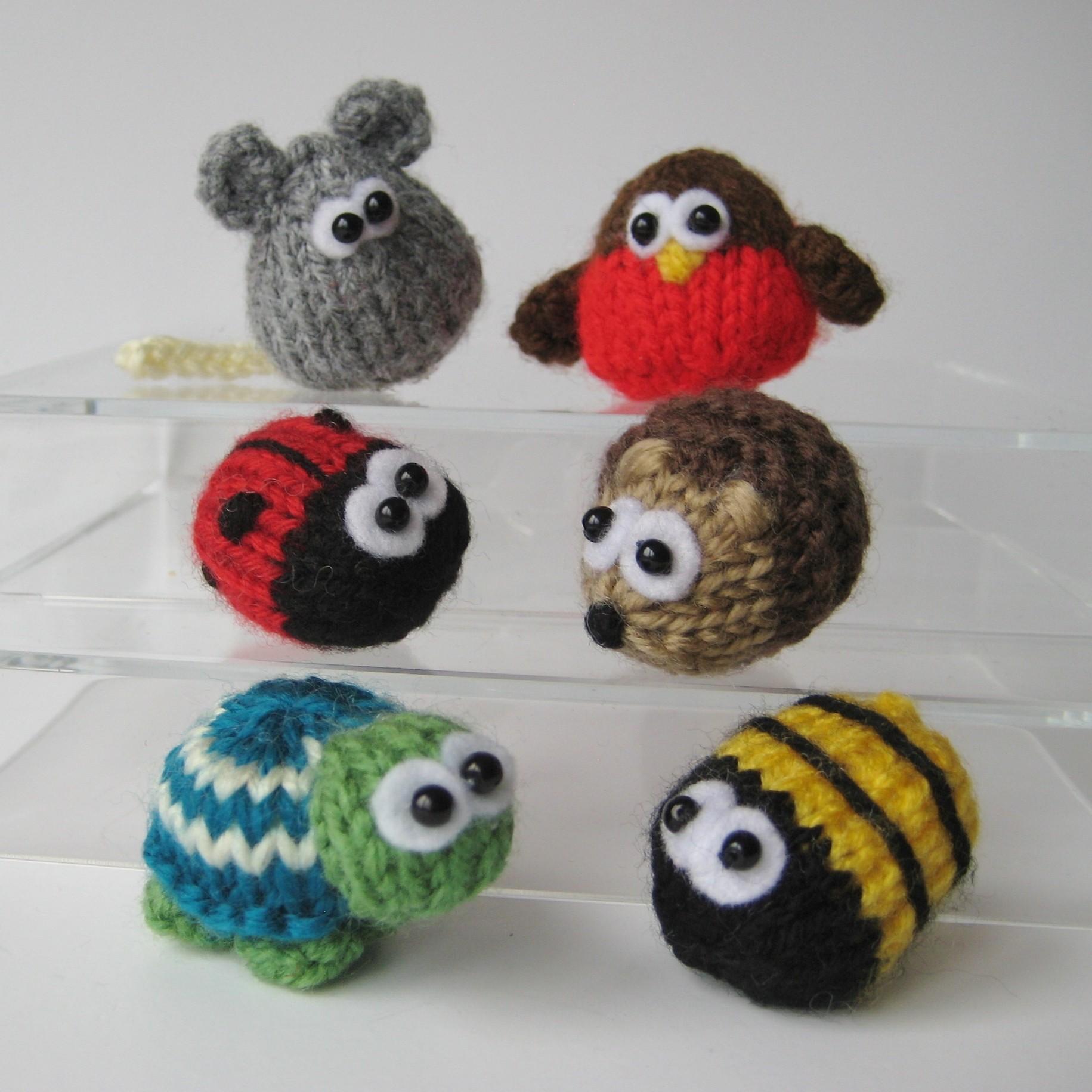 Teeny Toy Animal Knitting Patterns