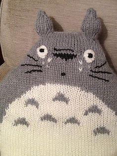 Totoro Cushion Knitting Pattern
