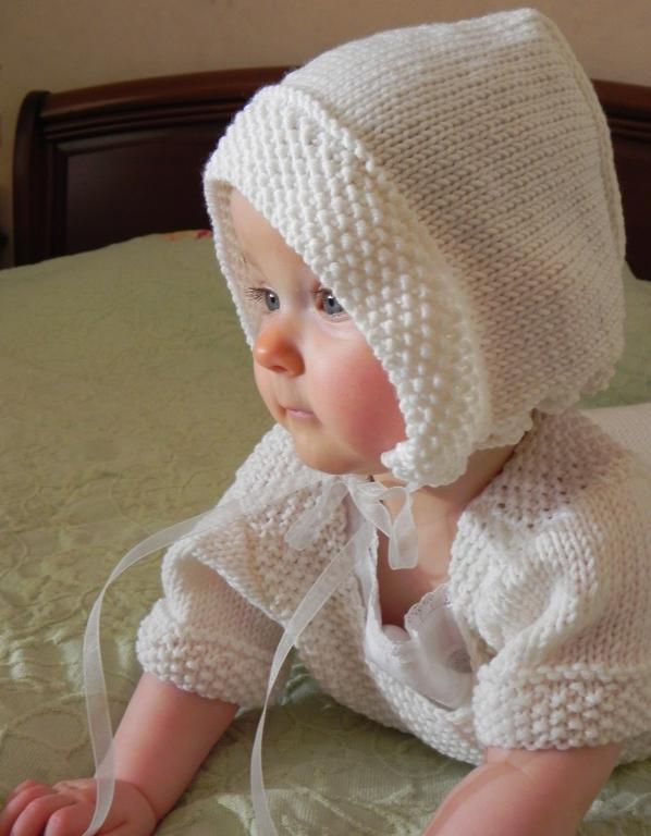 Traditional French Knit Baby Bonnet Pattern