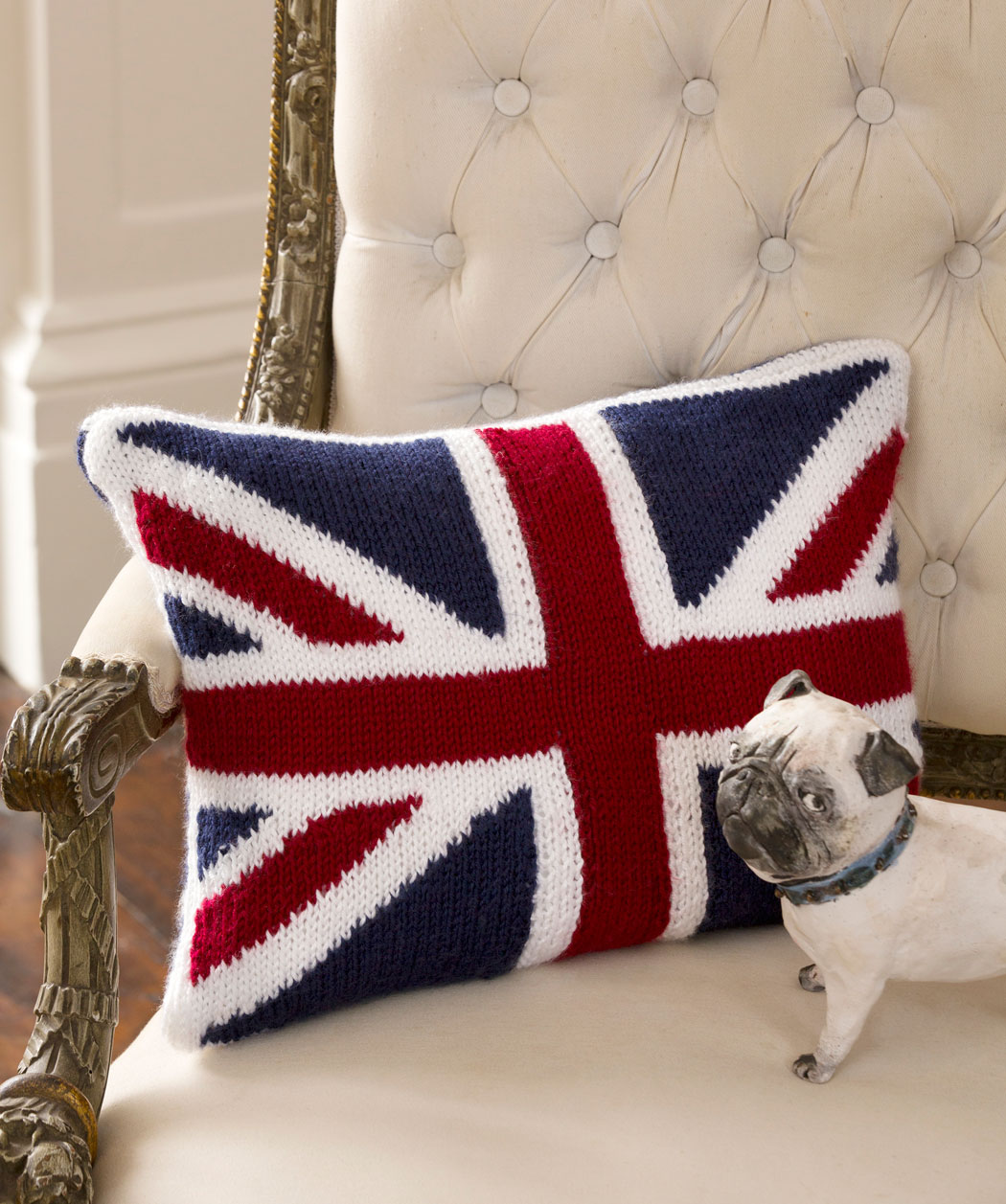 Union Jack Pillow Knitting Pattern