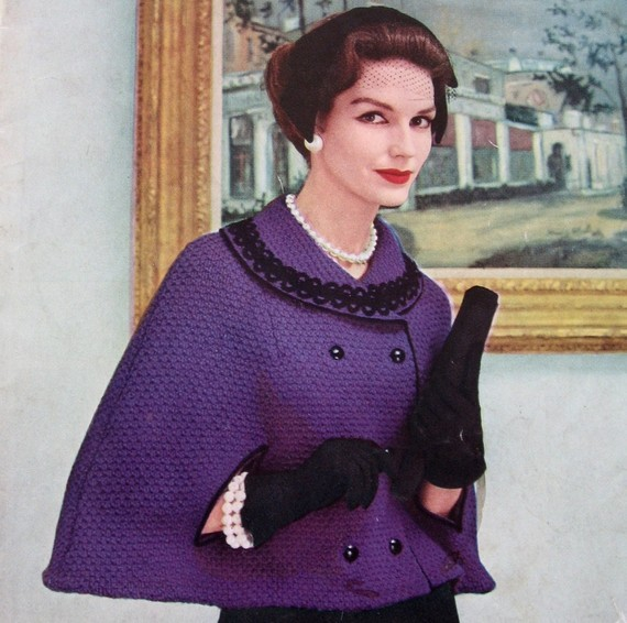 Vintage Capelet Knitting Pattern