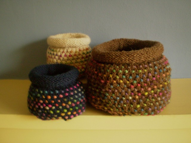 Basket Knitting Pattern