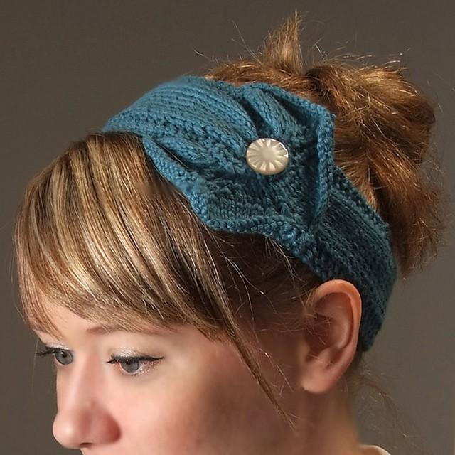 Button Headband Knitting Pattern