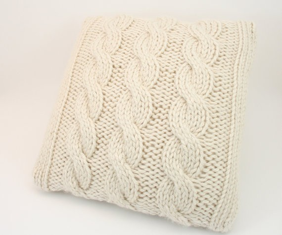 Cable Knit Pillow Cover Patterns