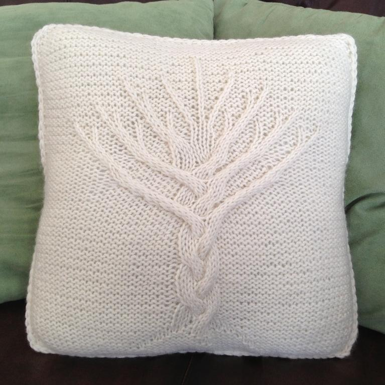 Cable Knitting Pillow Cover Pattern