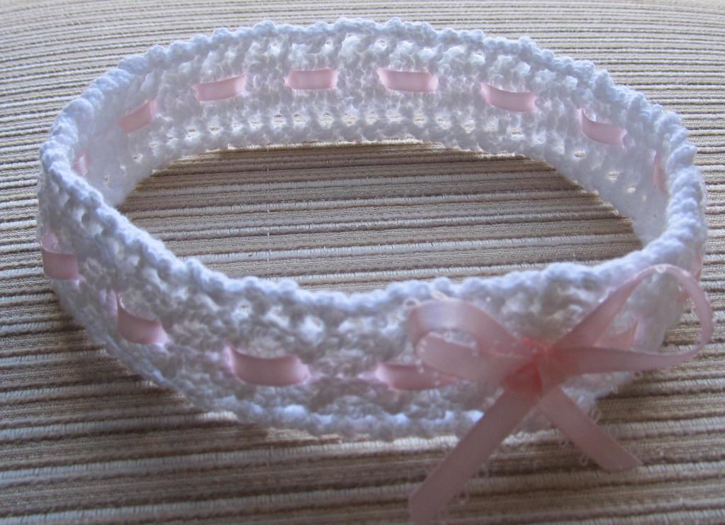 Cables and Lace Baby Knit Headband Pattern Pictures
