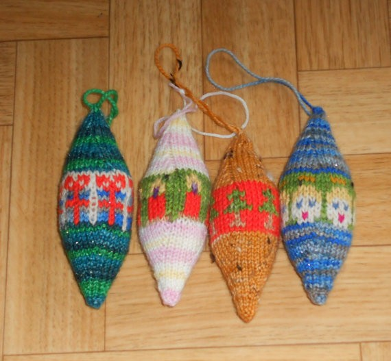 Christmas Ornaments Knitting Pattern