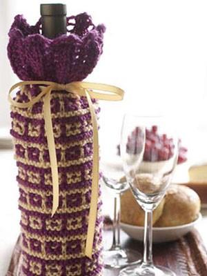 Cozy Knit Wine Bottle Cover Pattern