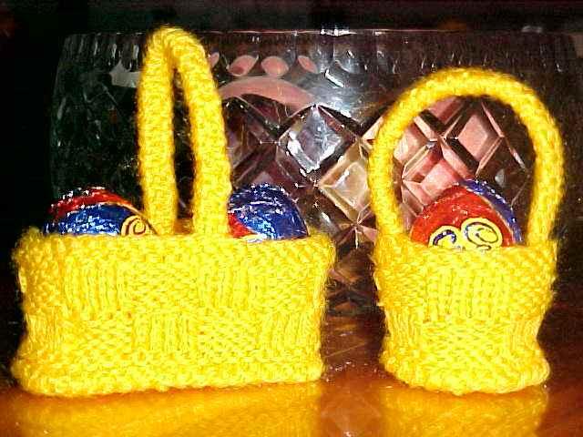 Easter Egg Basket Knitting Pattern