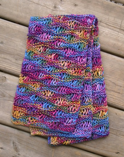 Easy Drop Stitch Scarf Pattern