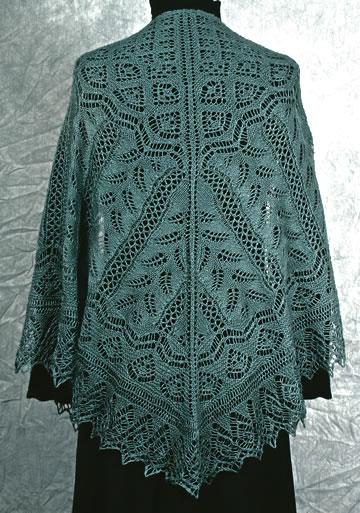 Fern Glade Lace Shawl Knitting Pattern