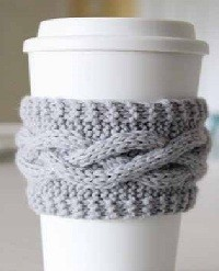 Free Knitted Coffee Cozy Pattern