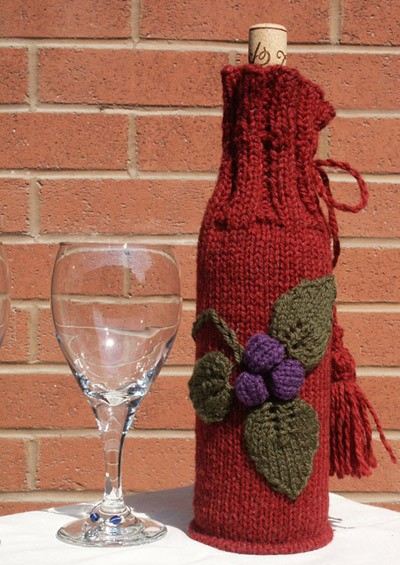 Free Knitted Wine Bottle Cover Patterns
