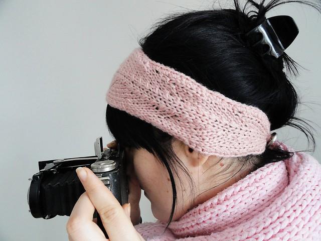 Headband Knitting Patterns with Button