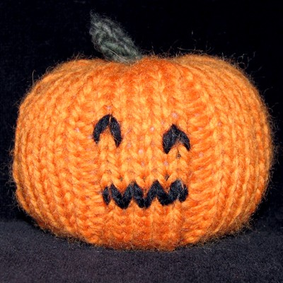 Jack-o-Lantern Pumpkin Knitting Patten