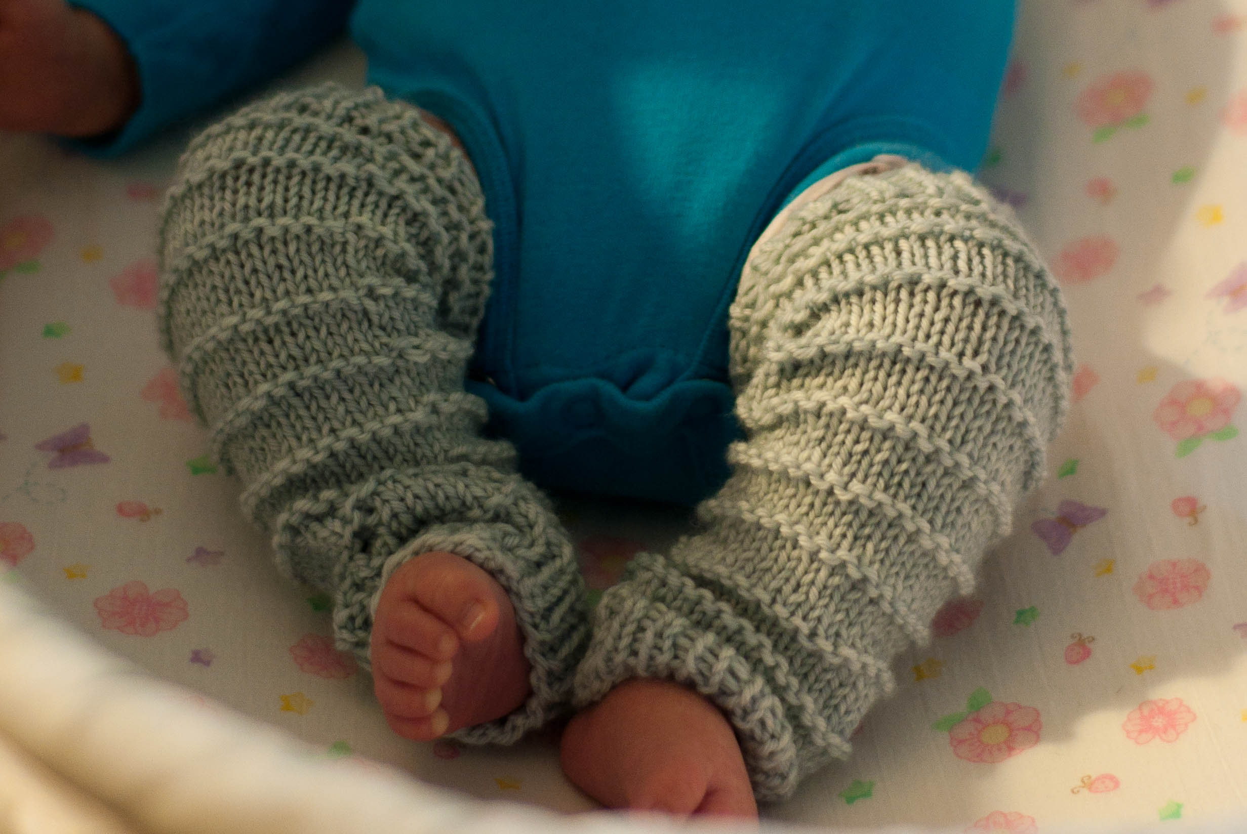 Knit Baby Leg Warmers Pattern Picture