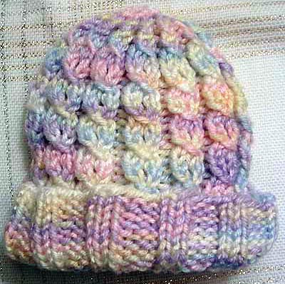 Knit in the Round Cabled Baby Hat Pattern