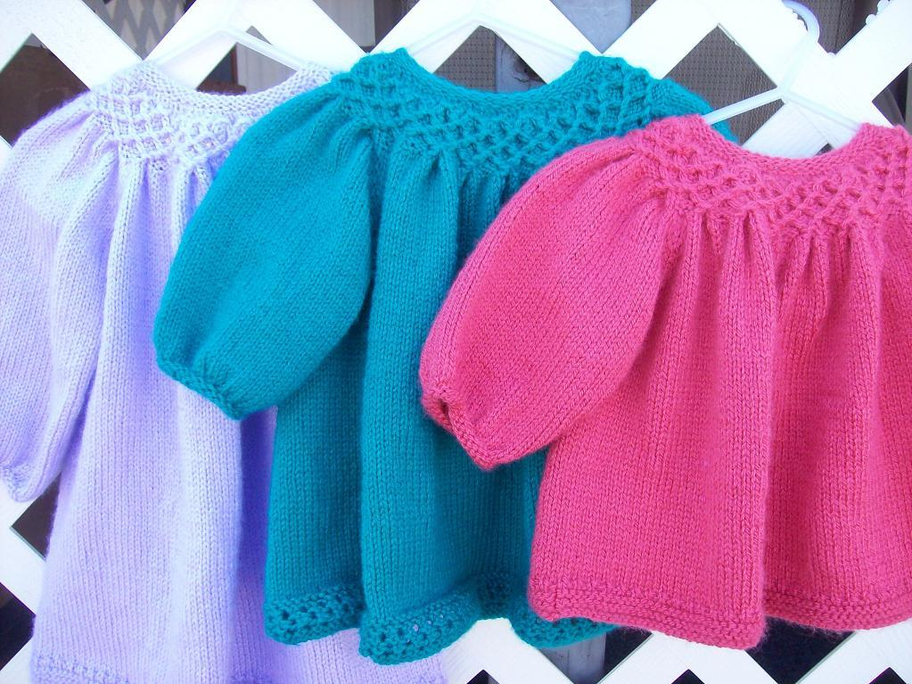 Knitted Baby Girl Clothes Pattern