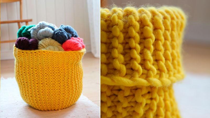Knitted Basket Patterns