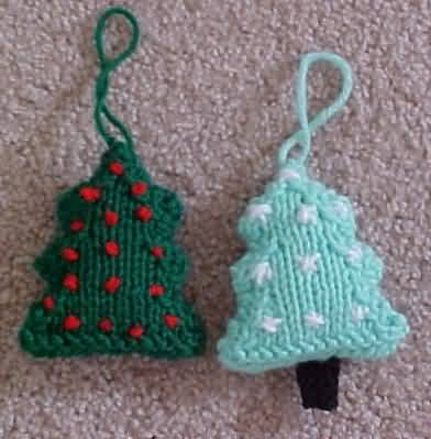 Knitted Christmas Tree Ornament Pattern