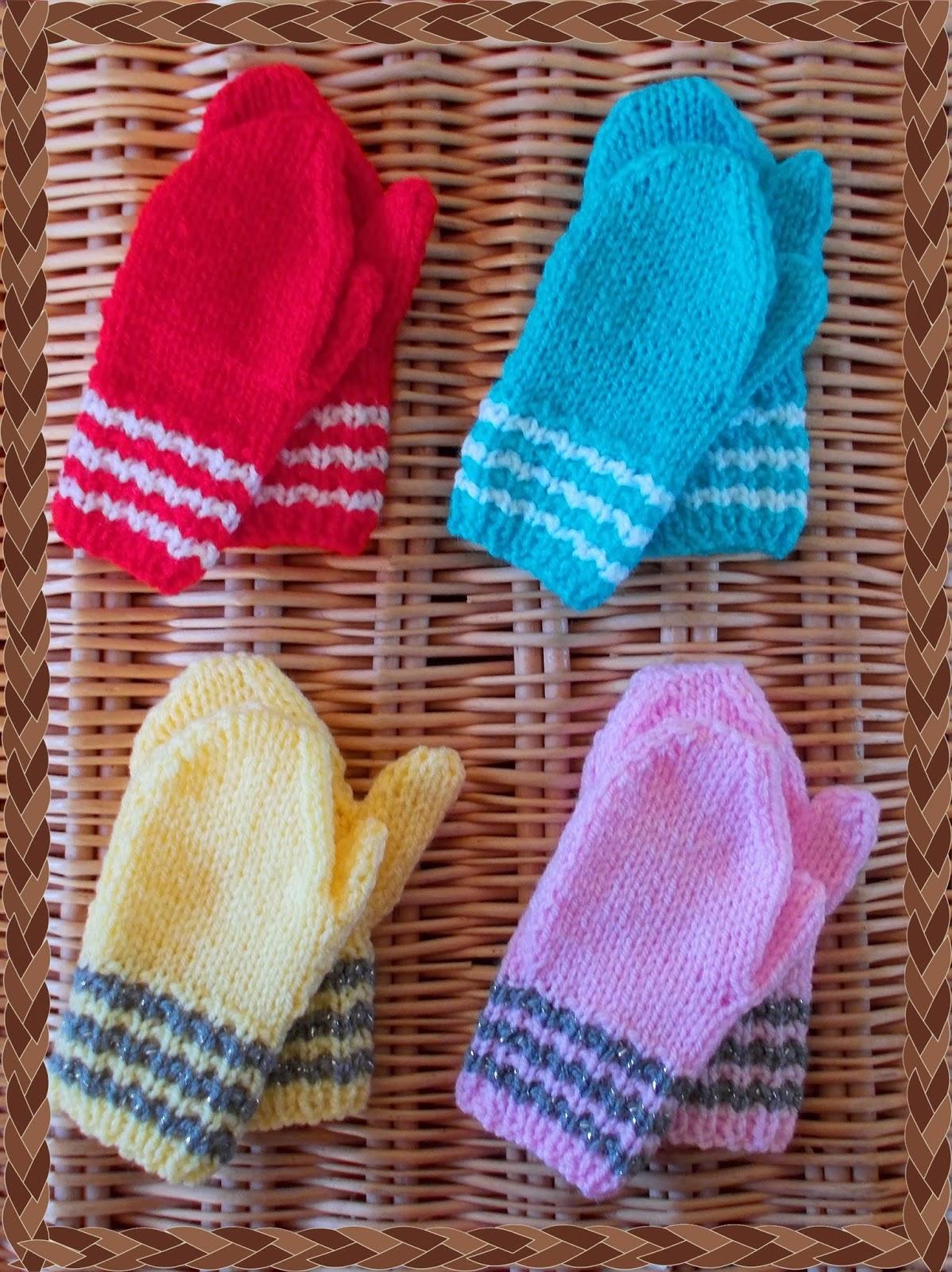 Knitting Baby Mittens Pattern Image