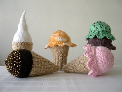 Knitting in the Round Ice Cream Cone Pattern