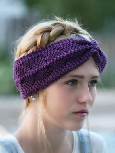 Loom Knit Anchor Headband Pattern