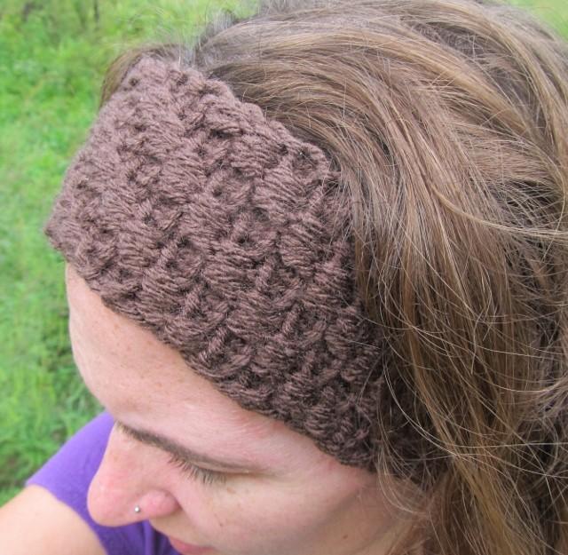 Loom Knit Ear Warmer Headband Pattern