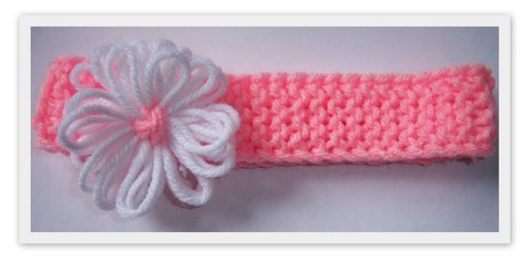Images of Loom Knit Spring Flower Headband Pattern