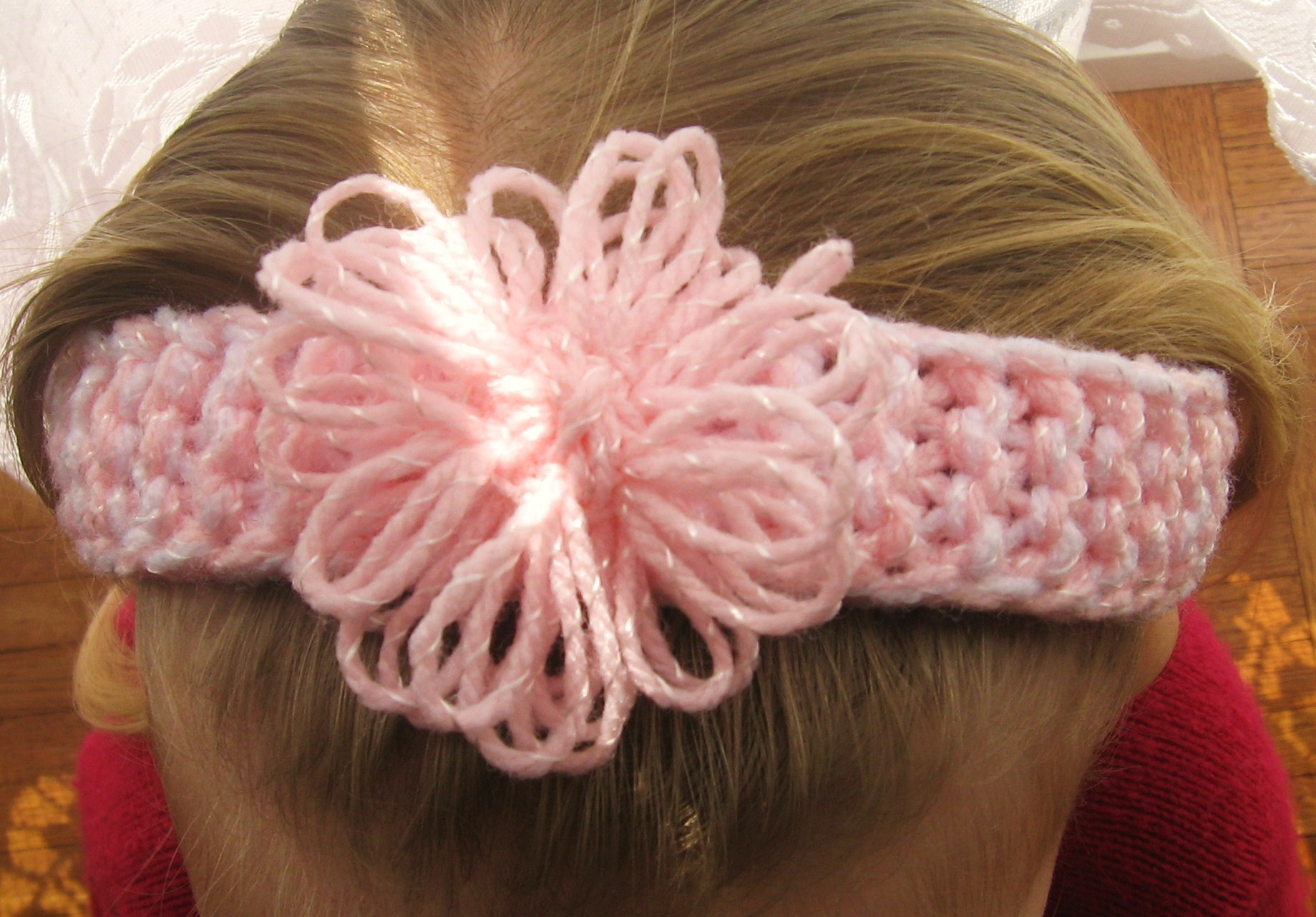 Loom Knitting Flower Headband Pattern