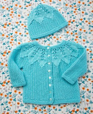 Seed Stitch Baby Set Clothes Knit Pattern